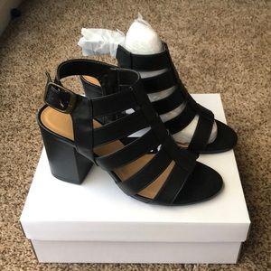 Black Caged Heels Size 8